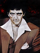 Mafia Paintings - Tony Montana by Jeremy Moore