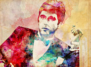 Tony Montana Framed Prints - Tony Montana Scarface Framed Print by Filippo B