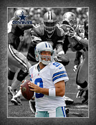 Dallas Cowboys Prints - Tony Romo Cowboys Print by Joe Hamilton