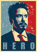 Iron Framed Prints - Tony Stark Framed Print by Caio Caldas
