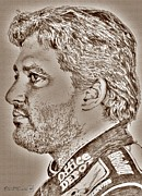 Jem Fine Arts Prints - Tony Stewart in 2011 Print by J McCombie