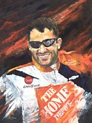Wheels Painting Prints - Tony Stewart - Nascar Print by Christiaan Bekker