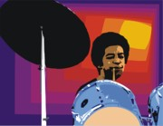 Drummers Digital Art Metal Prints - Tony Williams Metal Print by Walter Neal