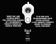 Gun Barrel Prints - Too Late Print by Al Powell Photography USA