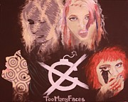 Many Faces Posters - Too Many Faces Poster by Vivian McCall