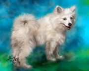 White Dogs Art - Too Sexy For My Fur by Colleen Taylor