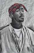 Featured Pastels Originals - Too Soon Tupac by Eric Dee