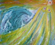 Linked Paintings - Too strong waves  by Hilde Widerberg
