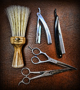 Hairdressers Posters - Tools of the Trade - Barber Poster by Lee Dos Santos