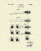 Wolcott Posters - Toothbrush 1941 Patent Art Poster by Prior Art Design
