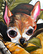 Chihuahua Colorful Art Prints - Tootie Print by Patti Schermerhorn