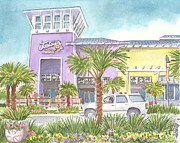 Panama City Beach Painting Prints - Tootsies Orchid Lounge Panama City Fl Print by Audrey Peaty