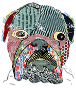 Canine Mixed Media Prints - Top Dog Print by Brian Buckley