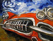 Corvette Paintings - Top Down by Carole Foret