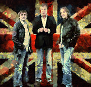 Gear Mixed Media Metal Prints - Top Gear Lads Metal Print by Janice MacLellan