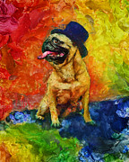 Christopher Lane - Top Hat Pug
