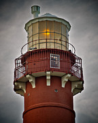 Barnegat Lighthouse Framed Prints - Top of Barney 2007 - Hawks Perch Framed Print by Mark Miller