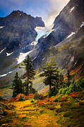Clouds; Landscape; Mountainous; Mountains; Nature; Nobody; Outdoors; Outside; Rocks; Rocky; Sky; The Altay Mountains; Tourism Posters - Top of Cascade Pass Poster by Inge Johnsson