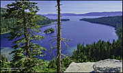 Panorama Art - Top of Emerald Bay Lake Tahoe California by LeeAnn McLaneGoetz McLaneGoetzStudioLLCcom