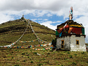 Tibetan Buddhism Art - Top of Hill by James Wheeler