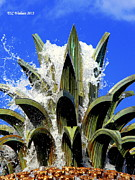 Top Of The Pineapple Fountain Print by Tammy Wallace