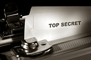 File Prints - Top Secret Document in Armored Briefcase Print by Olivier Le Queinec