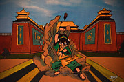 Avatar Paintings - Toph - Earthbender by Apoorv Jain