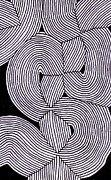 Op Art Drawings Posters - Topographic Abstract 049 Poster by Nathan Jones