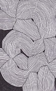 Op Art Drawings Posters - Topographic Abstract 073 Poster by Nathan Jones