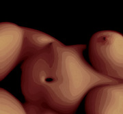 Nude Digital Art - Topographical Part Two by James Barnes