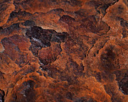 Framed Print. Colorful Prints - Topography of Rust Print by Rona Black