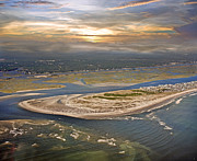 Paradise Point Prints - Topsail Island Paradise Print by Betsy A Cutler East Coast Barrier Islands