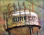 Surf City Posters - Topsail Landmarker Poster by East Coast Barrier Islands Betsy A Cutler