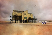 Condemned Prints - Topsails Past II Print by East Coast Barrier Islands Betsy A Cutler