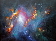 Mariegreen Prints - Topsy Turvy Galaxy NGC1313 Print by Marie Green