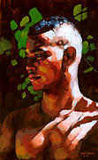 African American Male Painting Posters - Torano in the Afternoon Poster by Douglas Simonson