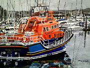 Coastguard Painting Prints - Torbay lifeboat Print by Mickton Wellbee