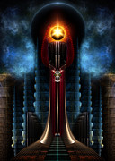 Fantasy Art Metal Prints - Torch Stone Tower - The Tower Of Acronis Metal Print by Rolando Burbon