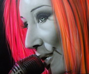 Soul Musicians Paintings - Tori Amos by Christian Chapman Art