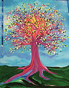 Tree Blossoms Paintings - Toris Tree by jrr by First Star Art