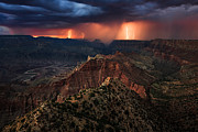 Torment Over The Canyon Print by Adam  Schallau