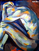 Nudes Painting Originals - Tormented by Helena Wierzbicki