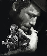 Music Legend Drawings - Torn Pages Tom Waits  by Iconic Images Art Gallery David Pucciarelli