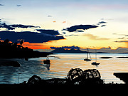 Andrew Harrison Prints - Torn Sunset Print by Andrew Harrison