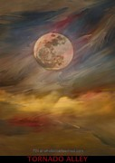 Moonshine Paintings - Tornado Alley by PainterArtist FIN