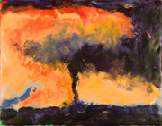 Encaustic Paintings - Tornado - Ames IA - March 30 2006 by Marilyn Fenn