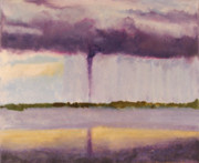 Encaustic Framed Prints - Tornado - Big Pine Key FL - April 14 2005 Framed Print by Marilyn Fenn