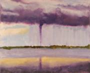Encaustic - Tornado - Big Pine Key FL - April 14 2005 by Marilyn Fenn