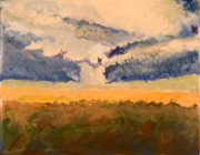 Encaustic - Tornado - Erie KS - November 27 2005 by Marilyn Fenn