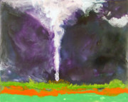 Encaustic Paintings - Tornado - Parsons Kansas - April 21 2005 by Marilyn Fenn